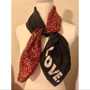 "Rebecca Minkoff ""Love."" silk scarf"